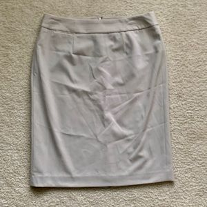 Calvin Klein lined suit pencil skirt khaki size 8